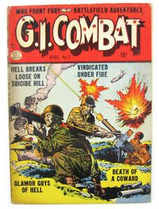 G.I. Combat Golden Age Comic Book #5 1953 Quality Comic Pub.