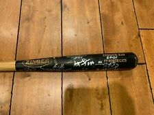 2001 Fort Worth Cats team SIGNED Zinger Game Used Baseball Bat 34""