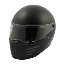 Bandit Fighter Casco de Cara Completa Moto Motocicleta-Negro Mate