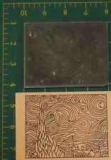 Starry Night by Vincent Van Gogh LARGE UM rubber stamp