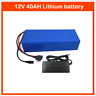 Lithium Battery 40AH 12V Volt Rechargeable Portable Prospecting Solar Camping