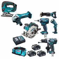MAKITA DLX6000M 18V LXT COMBI - 6 PIECE KIT WITH DJV180 JIGSAW
