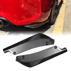 Carbon Fiber Rear Bumper Splitter Diffuser Canards Protector For Dodge Chevrolet