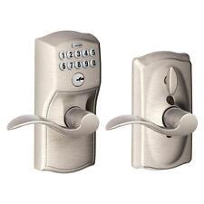 Electronic Keypad Code Door Lever Lock Keyless Smart Entry Satin Nickel Accent