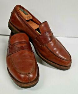 Allen Edmonds Breton Split Toe Loafers Brown Two Tone Leather Men's 11 D 4254