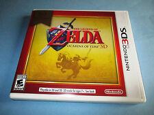 The Legend of Zelda Ocarina of Time 3D Nintendo 3DS XL 2DS Game w/Case & Insert