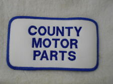 COUNTRY MOTOR PARTS   USED COMPANY PATCH TAG