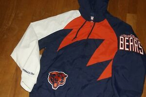 Mitchell & Ness Chicago Bears NFL Shark Tooth Jacket Blue Orange White S