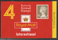 Gb Qeii Barcode Booklet Gn1 1993 Cyl W1 W1 4 X Worldwide Airmail Stamps Sg Y1780 00004000