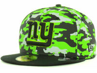 NY New York Giants New Era 59Fifty Fitted 2T Cover NFL Football Cap Hat Neon