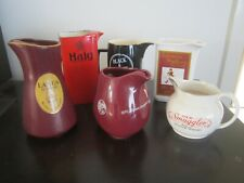 Collection 6 Vintage Retro Scotch Whisky Pub Water Jugs Johnny Walker Haig ect