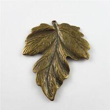 Wholesale 6pcs Antique Bronze Alloy Chic Leaves Look Pendants Charms Findings