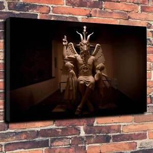 "Baphomet, occult, wicca  Printed Canvas A1.30""x20""-Deep 30mm Satan, halloween V2"