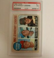 1968 Topps NL Strikeout Leaders #11 PSA 7