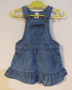 C&A Baby ° süsser Latzrock Gr. 80 blau Jeans Mädchen Kleidung Rock Jeansrock TOP