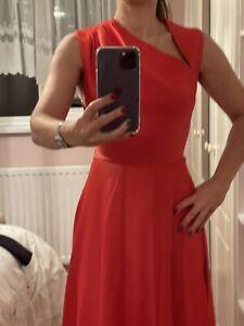 Safiyaa Skater Dress Red Uk 38 Brand New