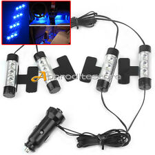 Set Accendisigari + 4 Luci Lampadine 3 LED Blu Decoro Auto Interno Cruscotto