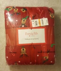 Family PJs Men's Pajama One-Piece Holiday Reindeer Hooded Size S MSRP $70.00