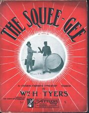 Squee Gee Bert 1904 Williams George Walker Large Format Sheet Music