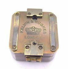 Solid Brass Antique/Vintage Compass Kelvin & Hughes 1917 Brunton Compass Gift