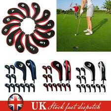 12 Pcs/set Golf Iron Clubs Head Covers Headcovers With Zipper Long Neck Protect