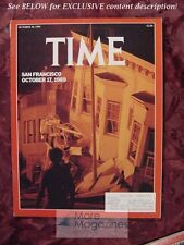 TIME Magazine October 30 1989 Oct 10/30/89 SAN FRANSISCO EARTHQUAKE