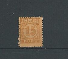 INDIE PORT P3D  15ct orange op geel  MH/ongebr   CV 80 €