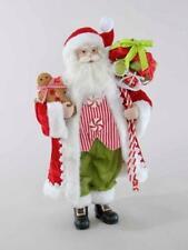 "Katherine's Collection Santa 18"" Decoration Shelf Sitter Teddy Bear Christmas"