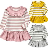 Toddler Girls Baby Dress Long Sleeve Princess Party Pageant Dresses Kids Clothes