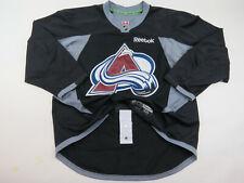 Practice Worn Reebok Colorado Avalanche NHL Pro Stock Hockey Jersey 56 Black #15