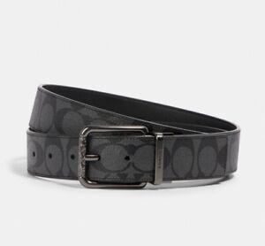 Coach Men Wide Harness Cut-To-Size Reversible Belt QB/Black F64839