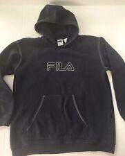Vintage Fila Hoodie Boy's L (14y) Navy Long Sleeve Pull Over Sweatshirt