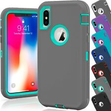 15 Shockproof Defender Hybrid Hard Case Covers Wholesale Lot For Apple iPhone 10