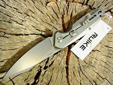 RUIKE knives P128-SF Satin Stainless framelock folding knife 14C28N blade 58-60c