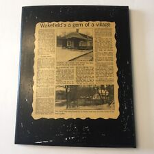 Wakefield Quebec Village News Paper Article Black Wood Wall Plaque Picture