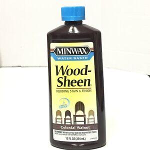 Minwax Water Based Wood-Sheen Rubbing Stain Finish Colonial Walnut 12oz