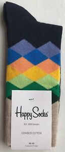 Happy Socks Women's Faded Diamond Socks - UK3.5-6.5 / US4.5-7.5 / EU36-40
