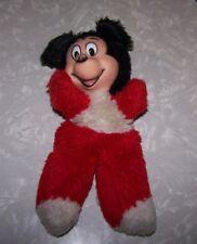 "Vintage Mickey Mouse Plush Bean Bag Toy ~ Rubber Face ~ 10"" Tall Walt Disney"
