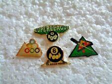 New listing Job lot of 4 Pool Billiards Snooker related metal lapel pins