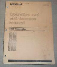 Cat Caterpillar 320c Excavator Operation Amp Maintenance Book Manual