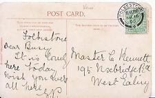 Genealogy Postcard - Family History - Kennett - Uxbridge Road - West Ealing 5767