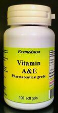 Vitamins A & E, antioxidants, eye, immunity,  liver ~100 soft gels. Made In USA