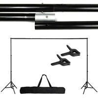 Photography Adjustable 10Ft Background Support Stand Photo Crossbar Studio KitWP