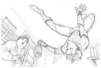 Spider-Man Homecoming Original Spider-Man Pencil Art by Steve Kurth PUBLISHED
