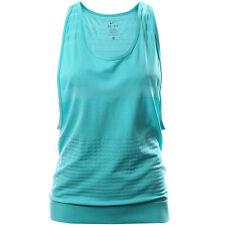 Women's Nike Dri-fit Knit Running Tank Top Aqua 684672-408 Large $65 (19S)