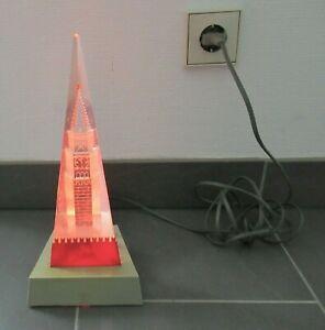 VINTAGE LAMPE RUSSLAND MOSKAU KREML SPASSKI TURM NIGHT LAMP_RED SQUARE_KREMLIN