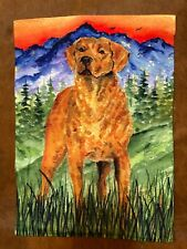 Chesapeake Bay Retriever Garden Flag (Mountain)