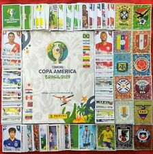 ORIGINAL PANINI Copa America 2019 Album Complete Set Stickers Japan Qatar Brazil