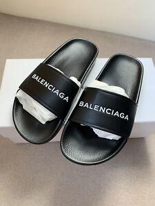 Balenciaga Leather Slides UK 4