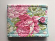 needlecase fabric Aqua Pink Floral Felt page inside Gift Present Needles Book